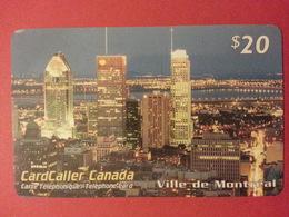 Cardcaller Canada Prepaid Ville De Montréal - Phonecards