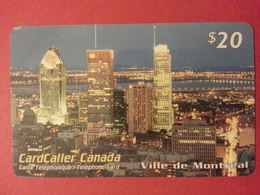 Cardcaller Canada Prepaid Ville De Montréal - Telefonkarten