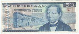 México 50 Pesos 27-1-1981 Pick 73 Serie KK UNC - México