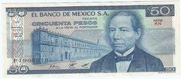 México 50 Pesos 27-1-1981 Pick 73 Serie KN-KP UNC - México