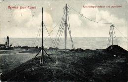 CPA Rügen. Arkona. Funkentelegraphiestation,Leuchtturme GERMANY (663269) - Rügen