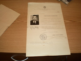 Dubrovnik Ragusa WW2 Okupation 1942 Consulato Generale D Italia Ragusa  Cerificato Di Iscrizione Passaporto Per L Estego - 1939-45