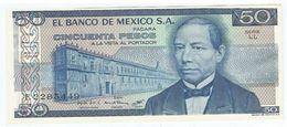 México 50 Pesos 27-1-1981 Pick 73 Serie LL UNC - México