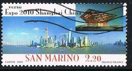2009 - SAN MARINO - VERSO EXPO 2010 SHANGHAI CHINA. USATO / USED - Usati