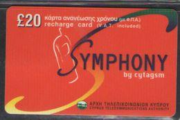 TELEPHONE CARD  CYPRUS  20 POUNDS - Telefoonkaarten