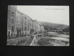 CPA BEDARIEUX  QUAI D'ORB (34 HERAULT)  ANIMEE HOMMES FEMMES RIVIERE 1908 - Bedarieux