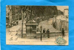 """LAVELANET-Promenade De """"lille"""" Rivière Et Quai Animés-  -a Voyagé En 1905- éditionRougé - Lavelanet"""