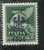LUBIANA 1944 OCCUPAZIONE TEDESCA  PRO ORFANI LIRE 5 Su 20  MNH - Occup. Tedesca: Lubiana