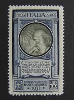 """ITALIA Regno Aerea -1932- """"Pro Società Dante Alighieri"""" £. 100 MNH** (descrizione) - Airmail"""