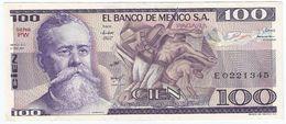 Mexico 100 Pesos 27-1-1981 Pick 74.a Serie PW UNC - México