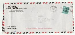 1983 HONG KONG Air Mail COVER From Fit Mel Cutom Clothes Co ADVERT To USA Stamps - Covers & Documents