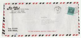 1983 HONG KONG Air Mail COVER From Fit Mel Cutom Clothes Co ADVERT To USA Stamps - Hong Kong (...-1997)