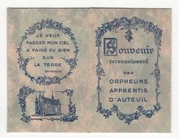 Image Religieuse - Souvenir Reconnaissant Des Orphelins Apprentis D'Auteuil (Ste Thérèse) - Images Religieuses
