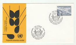 1983 UN Geneve FDC Food Pmk FISH , CORN   Cover Stamps United Nations - Fishes