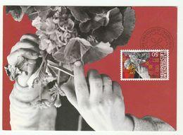 1982 LIECHTENSTEIN  FDC Maximum Card FLOWER, GARDENINGy Stamps Cover - Plants