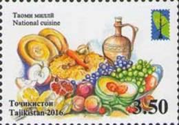 Tadschikistan 2016 MNH** Mi.Nr. 739 A RSS National Cuisine - Tadschikistan