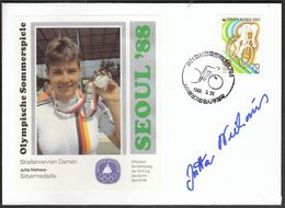 Korea 1988 / Olympic Games Seoul / Cycling, Road Race, Women / Silver Medal Winner Jutta Niehaus, Germany - Sommer 1988: Seoul