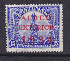 Guatemala 1934 Mi. 274     15 C. Kolumbus-Denkmal Aufdruck Overprinted AEREO / EXTERIOR / 1934 - Guatemala