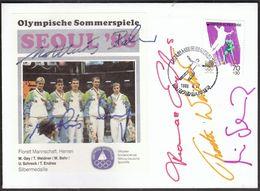 Korea 1988 / Olympic Games Seoul / Fencing, Florett, German Team / Siver Medal Winner Gey, Weidner, Behr, Schreck, Endre - Zomer 1988: Seoel