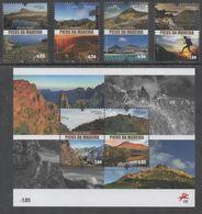 PORTUGAL , 2018, MNH,PEAKS OF MADEIRA, MOUNTAINS, 4v+ SHEETLET - Geology