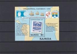 Samoa 1992 $4 Christopher Columbus Souvenir Sheet MNH/**   (H37) - Samoa Américaine