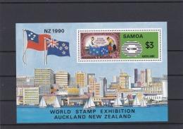 Samoa 1993  $3 World Stamp Exhibition Auckland Souvenir Sheet MNH/**   (H37) - Samoa Américaine