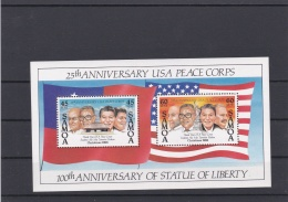 Samoa 1986 25th Aniversary USA Peace Corps Souvenir Sheet MNH/**   (H37) - Samoa Américaine