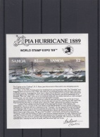 Samoa 1989 $2 Pia Hurricane Souvenir Sheet MNH/**   (H37) - American Samoa
