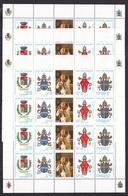 1997 Vaticano Vatican 100° PAOLO IV° 12 Serie In 3 Minifogli Di 4 MNH** 3 Minisheets - Papi