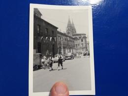 PHOTO AMATEUR SANTIAGO FANFARE  CITROEN CAMIONNETTE  CHOCOLAT LOTO  11 X 8 CM  1964 - Santiago De Compostela