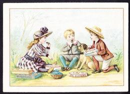 CHROMO Chocolat SUCHARD   +/- 1892  Serie 28   Scènes De Genre  Picnic     Trade Card - Suchard
