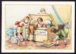 CHROMO Chocolat SUCHARD   +/- 1892  Serie 28   Scènes De Genre  Enfants Avec Chien     Trade Card - Suchard