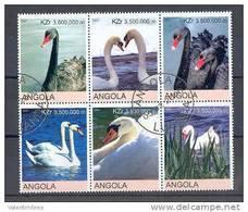 Oiseaux  Série Complète ° Oblitérée  Angola 78  Cygnes - Swans