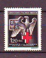 Bohemia And Moravia - 1943, Red Cross 1v Mnh - Bohemia Y Moravia