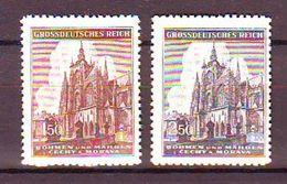 Bohemia And Moravia - 1944 The 600th Anniversary Of The St. Vitus Cathedral - Prague 2v Mnh - Bohemia Y Moravia
