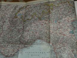 Marseille Toulon Nizza Verona Vicenza Bologna Pisa Livorno Genf Bern Lyon Elba Corsica France Italy Map Karte Mappa 1930 - Geographical Maps