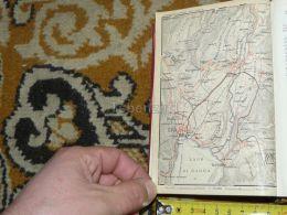 Lago Di Garda Torbole Riva Varone Cologna Arco Bolognano Nago Vigne Tenno Italy Map Karte Mappa 1930 - Carte Geographique
