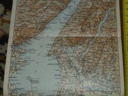 Lago Di Garda Sirmione Bardolino San Pietro Padenghe Gargnano Lazise Riva Arco Italy Map Karte Mappa 1930 - Carte Geographique