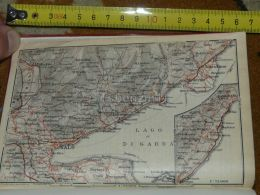 Lago Di Garda Portese Maderno Toscolano Gargnano Salo Vobarno Gardone Portese Italy Map Karte Mappa 1930 - Carte Geographique