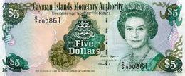 CAYMAN ISLANDS 5 DOLLARS 2005 P-34b UNC PREFIX C/2 [KY214a] - Iles Cayman