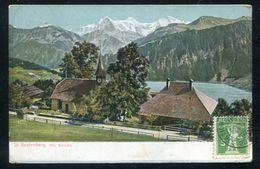 St. Beatenberg. Die Kirche  -  Postmark ST. BEATENBERG STATION 1909 - Suisse. - BE Berne