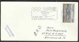 France Chamrouss / Olympic Games Grenoble 1968 / Alpine Skiing / Machine Stamp - Inverno1968: Grenoble