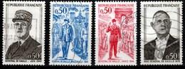 France - Série De 1971 - Y&T 1695 / 1698 - Anniversaire De La Mort Du Général De Gaulle - Gebraucht