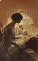 AK Paul Heckscher - Seines Vaters Lächeln - Feldpost - SMS Graudenz - 1916 (33560) - Paintings