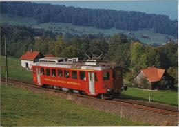 Rorschach - Heiden-Bergbahn (RHB) Zahnrad-Triebwagen ABDeh 2/4 - Photo: F. Suter - AR Appenzell Rhodes-Extérieures
