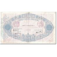 France, 500 Francs, 500 F 1888-1940 ''Bleu Et Rose'', 1939, 1939-11-02, TTB - 1871-1952 Antichi Franchi Circolanti Nel XX Secolo