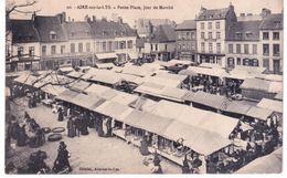Aire Sur La Lys - Petite Place , Jour De Marché - Aire Sur La Lys