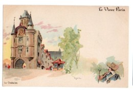 Illustrateurs Robida Albert Robida 008, Le Vieux Paris, Dos Non Divisé, Le Chatelet - Robida