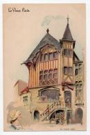 Illustrateurs Robida Albert Robida 009, Le Vieux Paris, Dos Non Divisé, Le Grand Logis - Robida