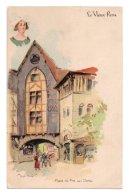 Illustrateurs Robida Albert Robida 016, Le Vieux Paris, Dos Non Divisé, Place Du Pré Aux Clercs - Robida